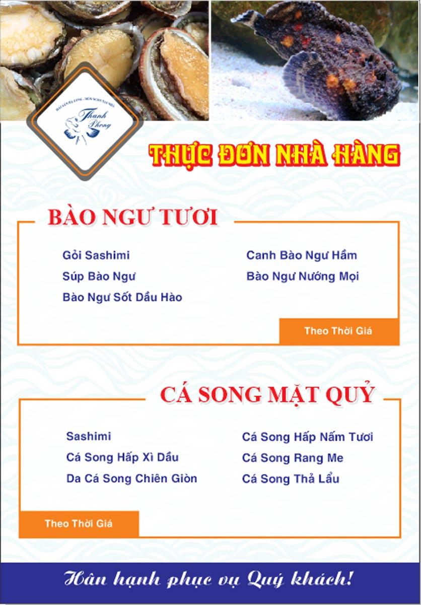 Menu Hải sản Thanh Phong - Đường K2 - Cầu Diễn   24