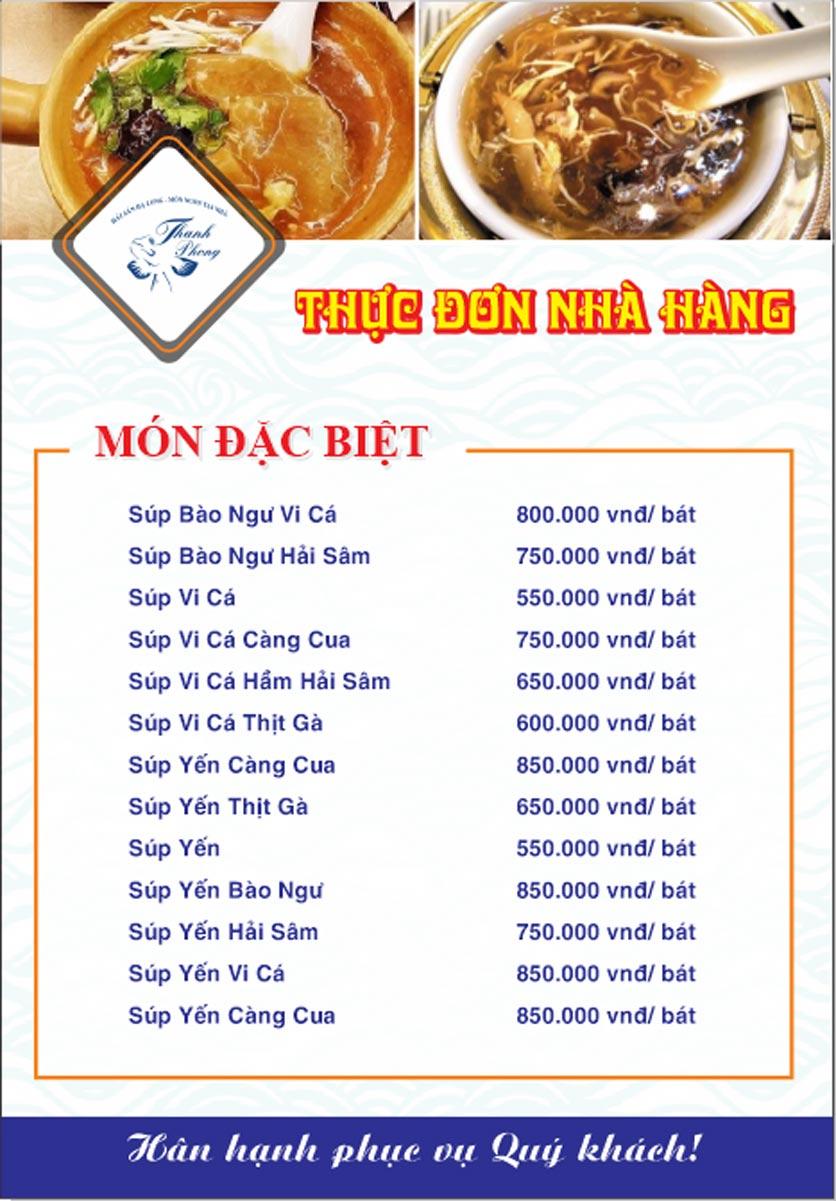 Menu Hải sản Thanh Phong - Đường K2 - Cầu Diễn   25