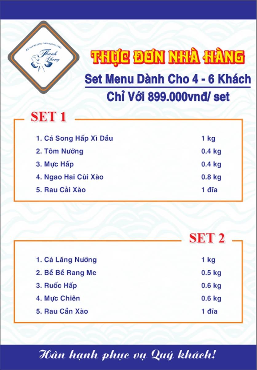 Menu Hải sản Thanh Phong - Đường K2 - Cầu Diễn   26