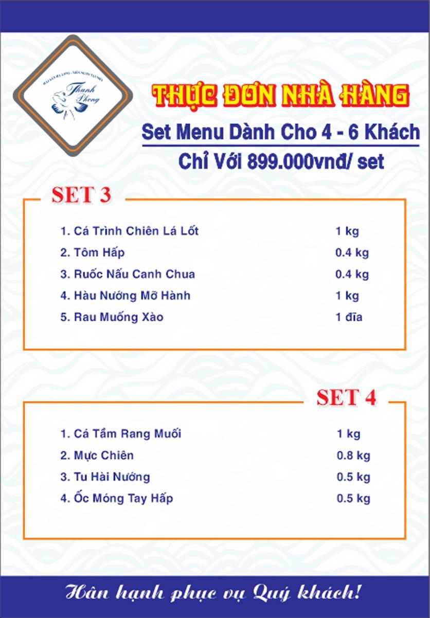 Menu Hải sản Thanh Phong - Đường K2 - Cầu Diễn   27