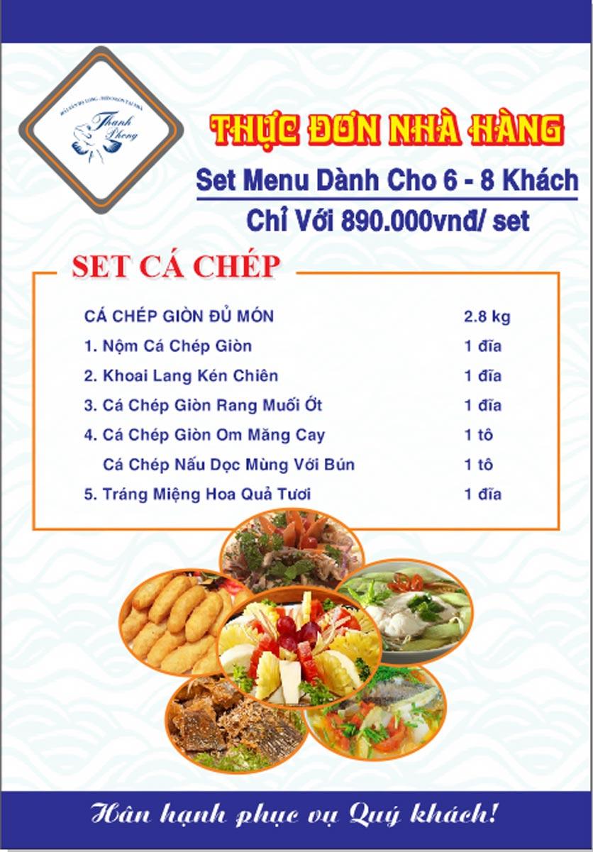 Menu Hải sản Thanh Phong - Đường K2 - Cầu Diễn   28