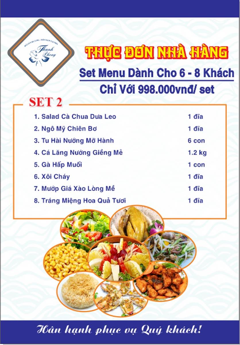 Menu Hải sản Thanh Phong - Đường K2 - Cầu Diễn   30