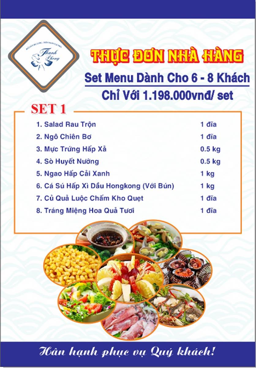 Menu Hải sản Thanh Phong - Đường K2 - Cầu Diễn   31