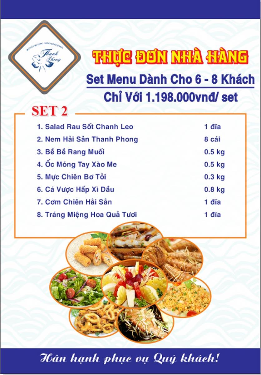Menu Hải sản Thanh Phong - Đường K2 - Cầu Diễn   32