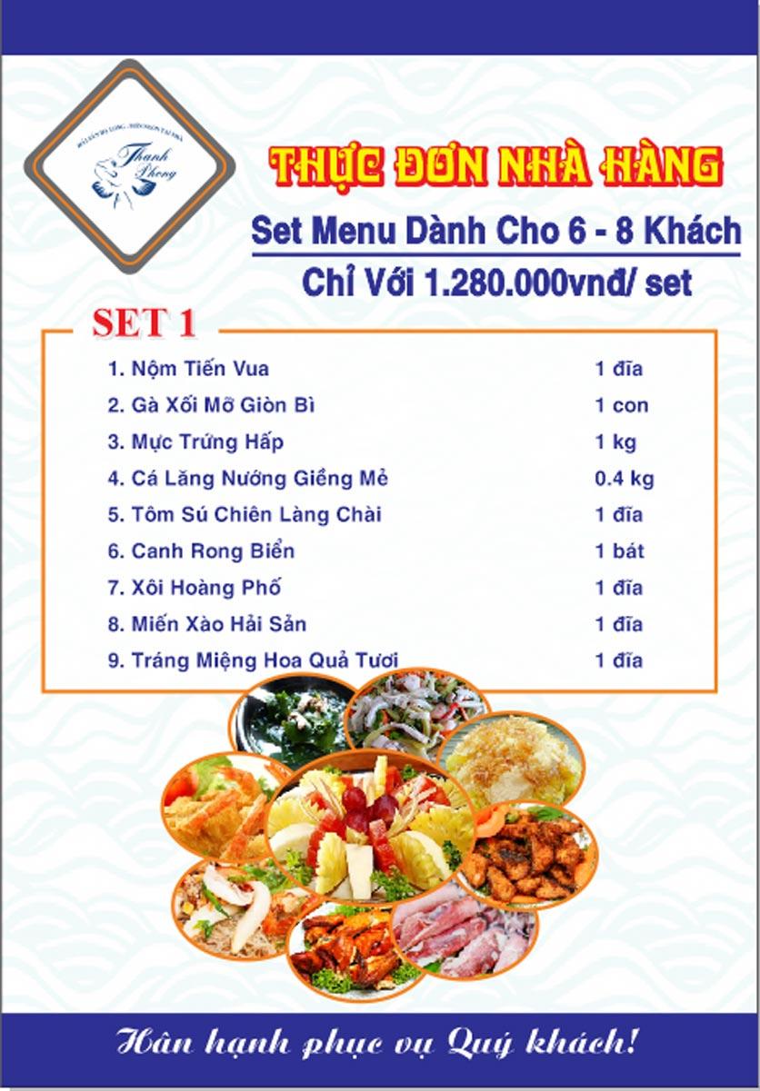 Menu Hải sản Thanh Phong - Đường K2 - Cầu Diễn   33