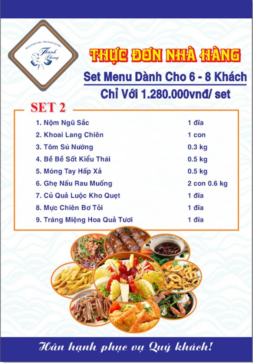 Menu Hải sản Thanh Phong - Đường K2 - Cầu Diễn   34