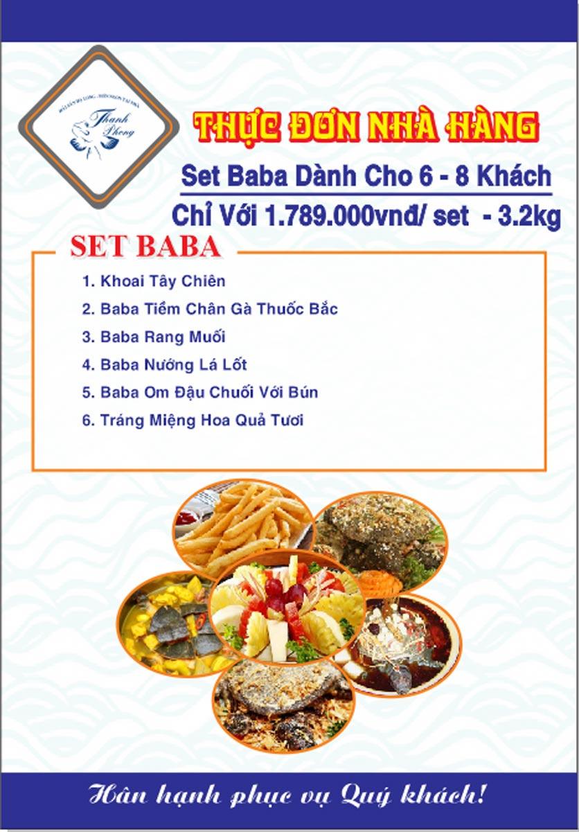 Menu Hải sản Thanh Phong - Đường K2 - Cầu Diễn   35