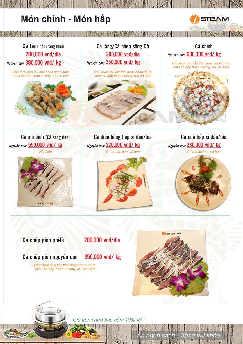 Menu Nhà hàng iSteam - Nguyễn Thị Định 10