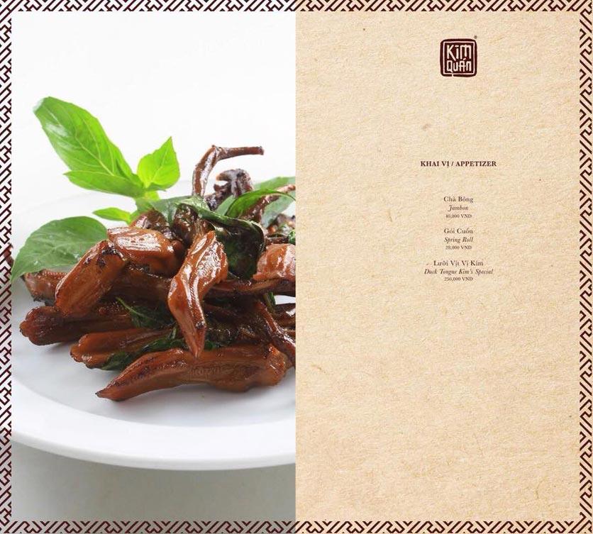 Menu Kim Quán - Nguyễn Lương Bằng 1