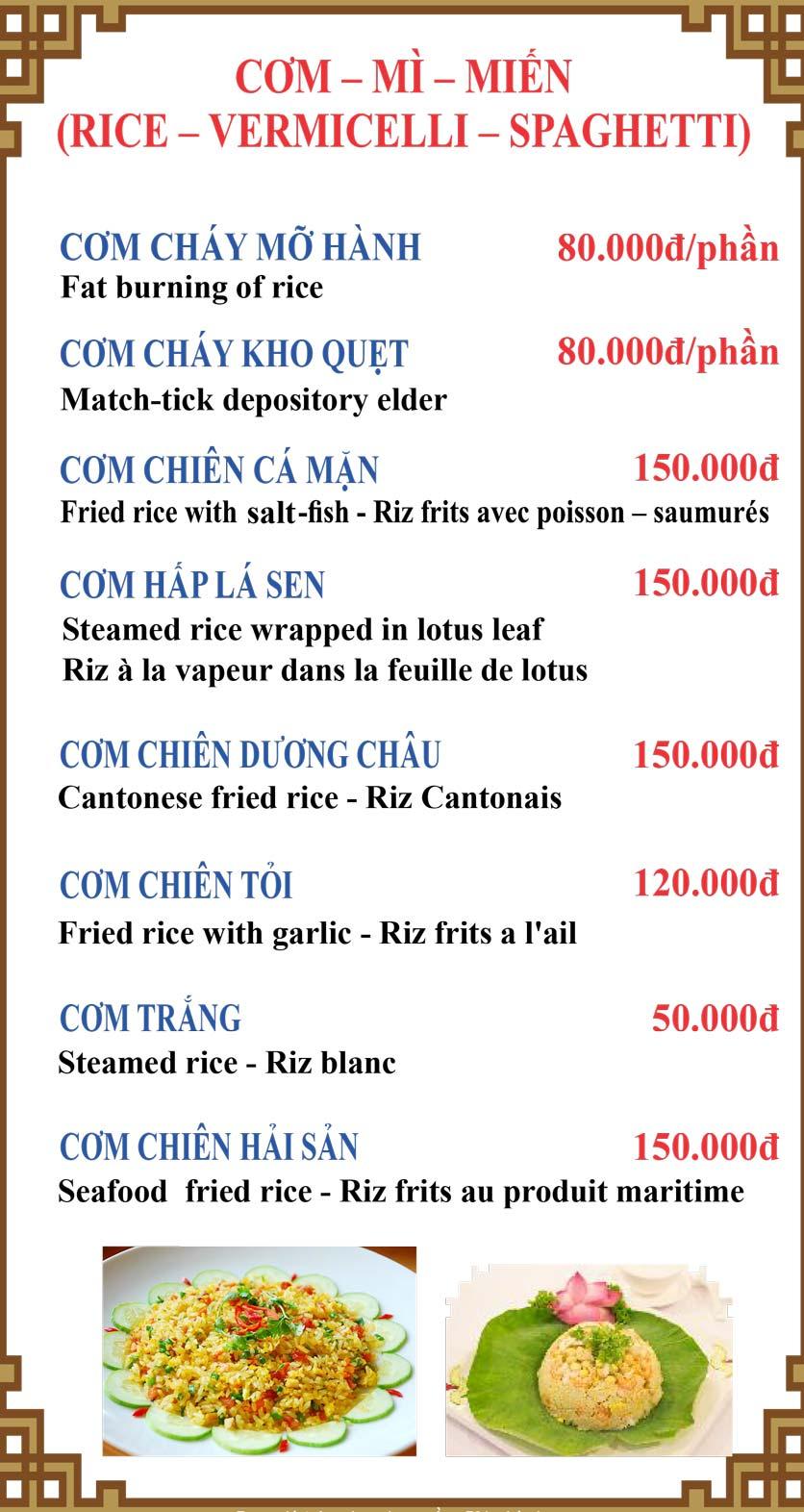 Menu Lương Sơn Quán – Bò Tùng Xẻo – Lý Tự Trọng  7