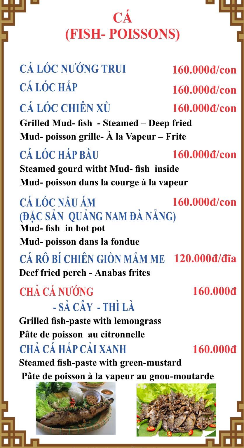Menu Lương Sơn Quán – Bò Tùng Xẻo – Lý Tự Trọng  11
