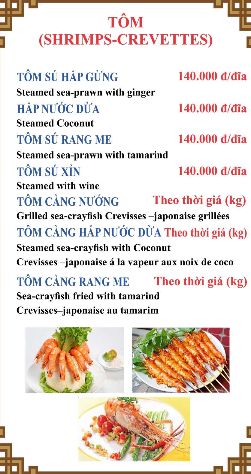 Menu Lương Sơn Quán – Bò Tùng Xẻo – Lý Tự Trọng  16