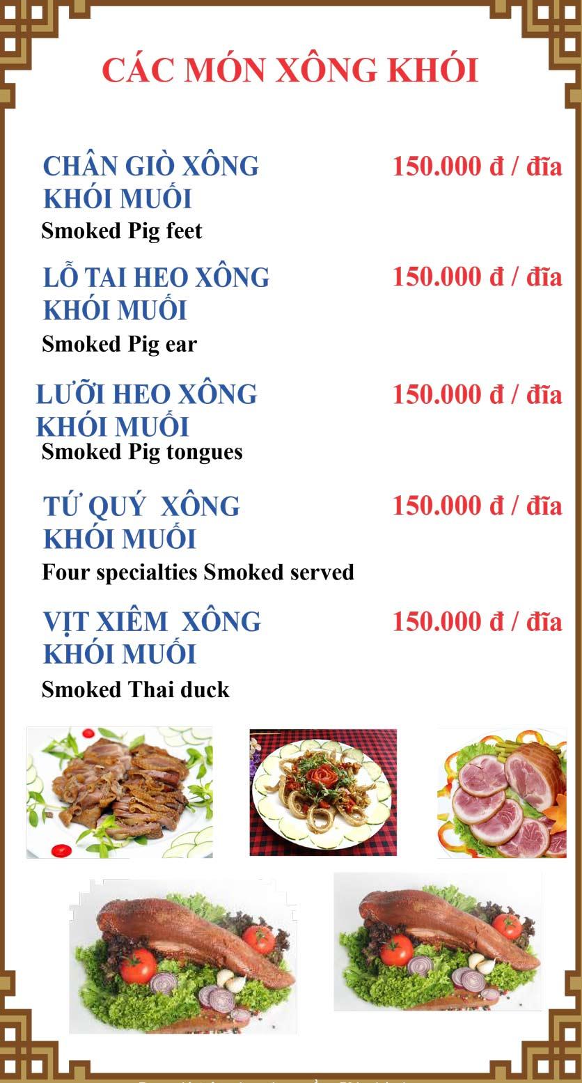 Menu Lương Sơn Quán – Bò Tùng Xẻo – Lý Tự Trọng  24