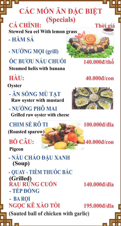 Menu Lương Sơn Quán – Bò Tùng Xẻo – Lý Tự Trọng  32