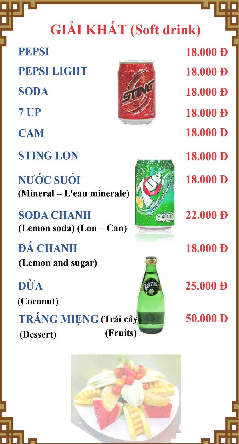 Menu Lương Sơn Quán – Bò Tùng Xẻo – Lý Tự Trọng  35