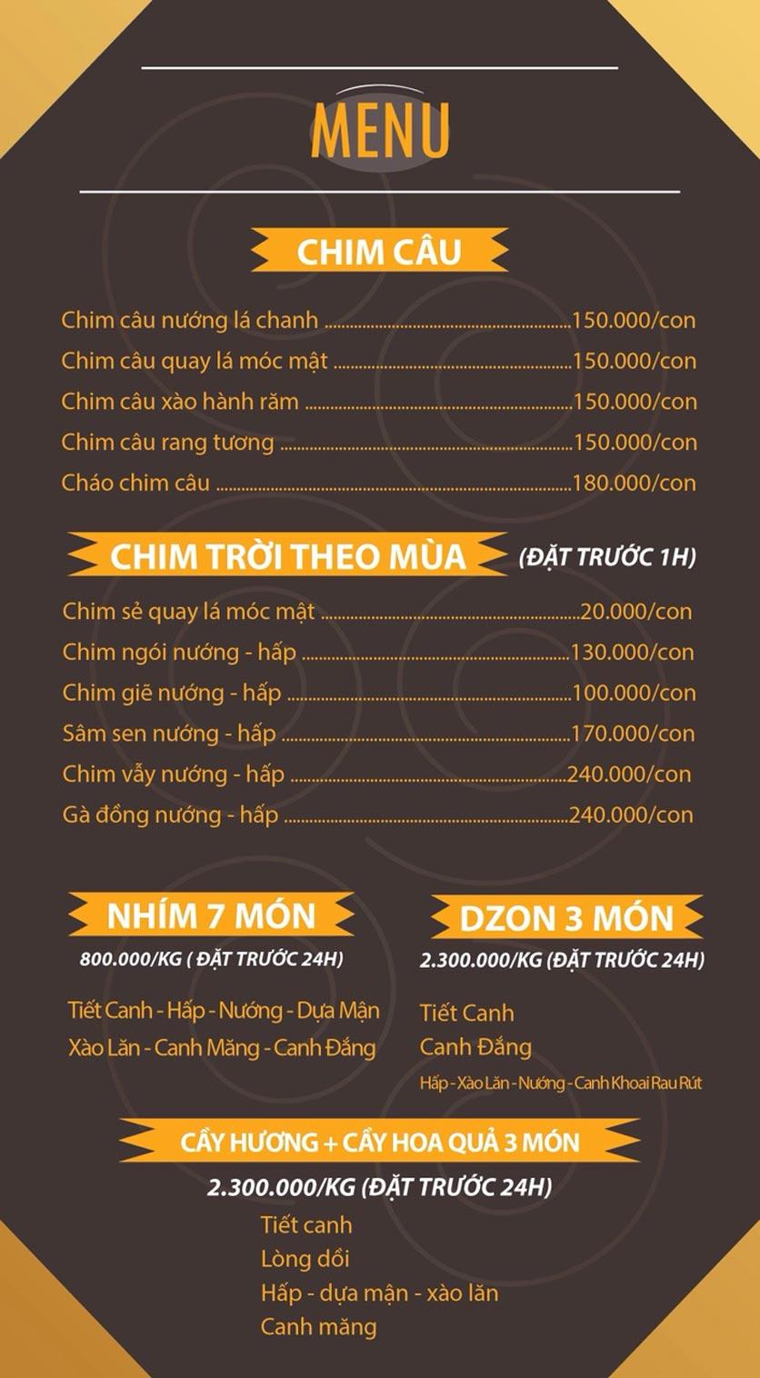 Menu Mái Ngói Xưa – Nguyễn Văn Lộc    3