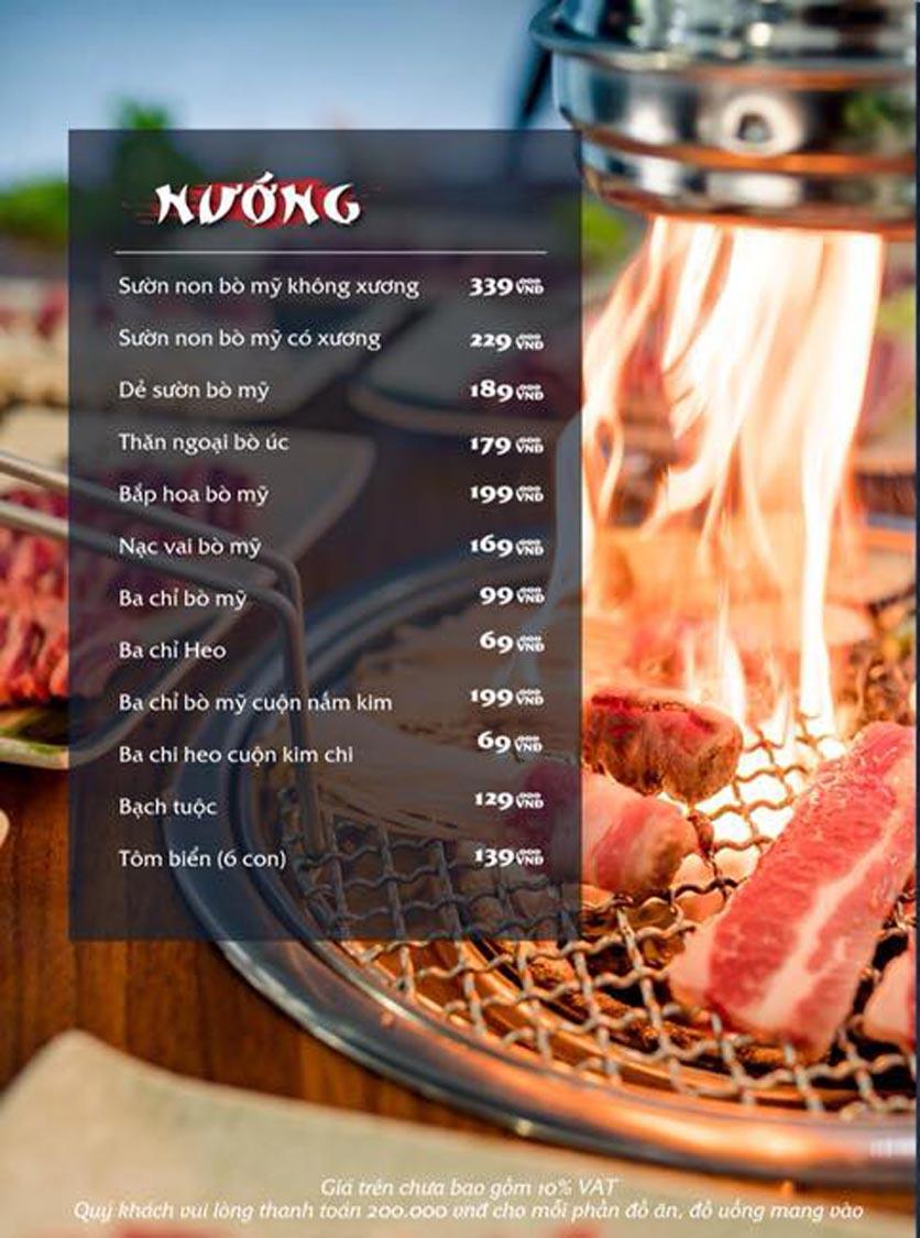 Menu Mura BBQ & Hotpot – The K Park - KĐT Văn Phú 7