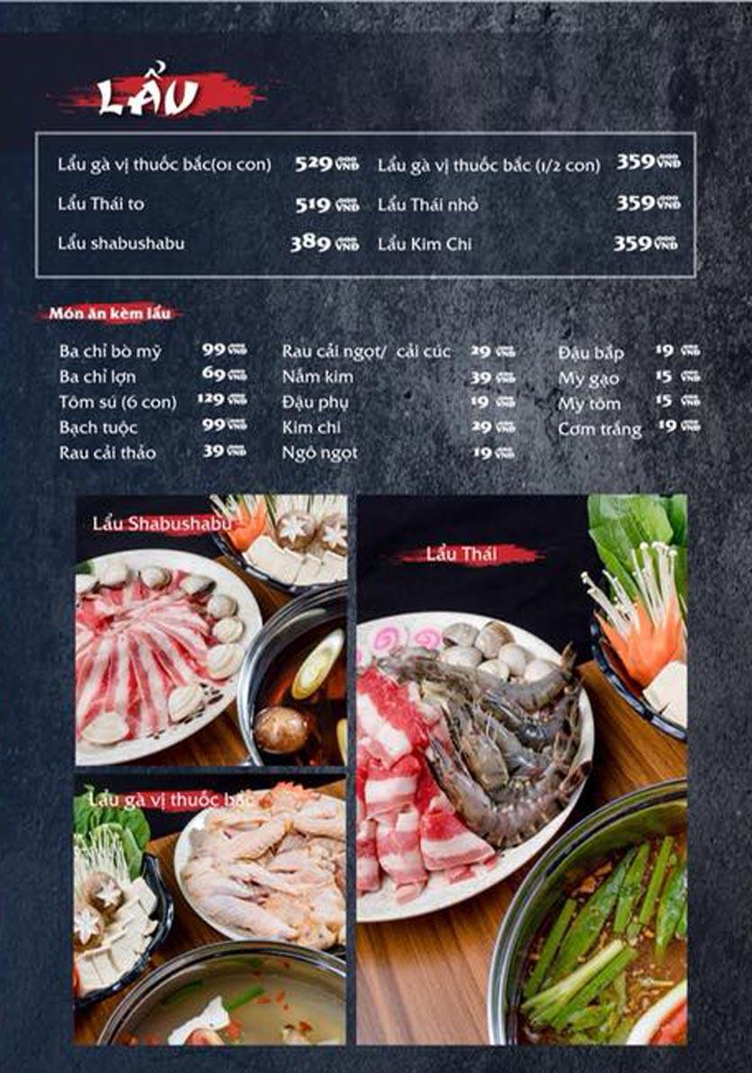 Menu Mura BBQ & Hotpot – The K Park - KĐT Văn Phú 8