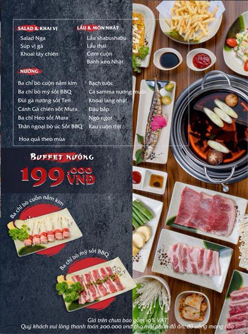 Menu Mura BBQ & Hotpot – The K Park - KĐT Văn Phú 2