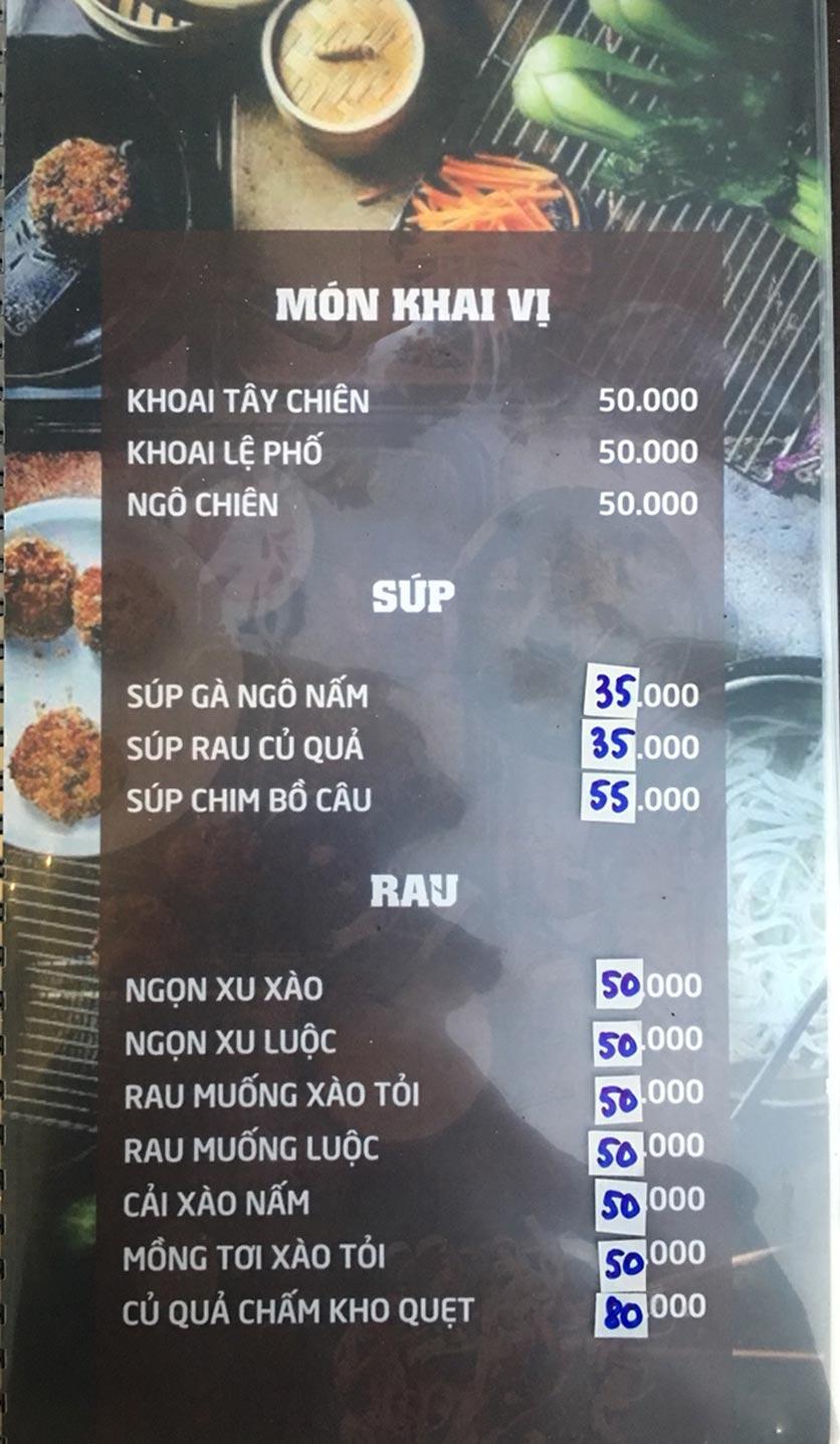 Menu Quý Cò – Nguyễn Huy Tưởng  1