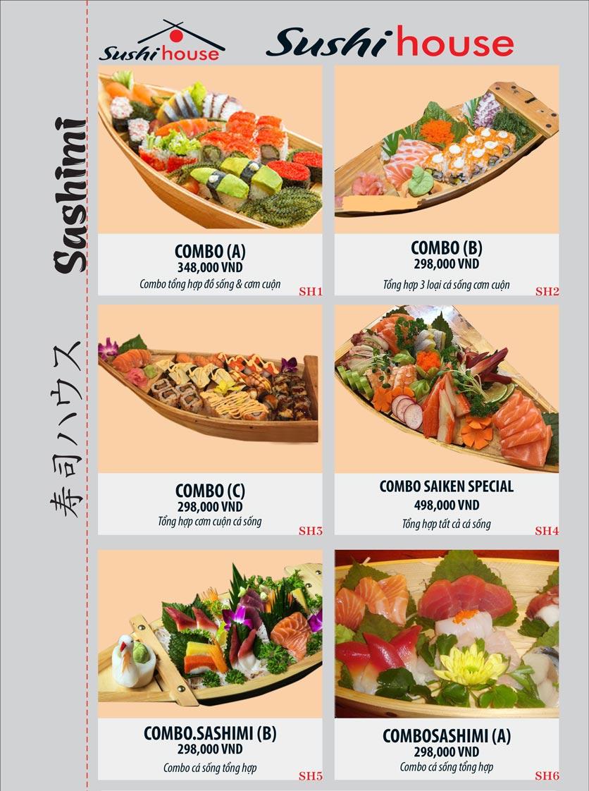 Menu Sushi House – Trương Quốc Dung 1
