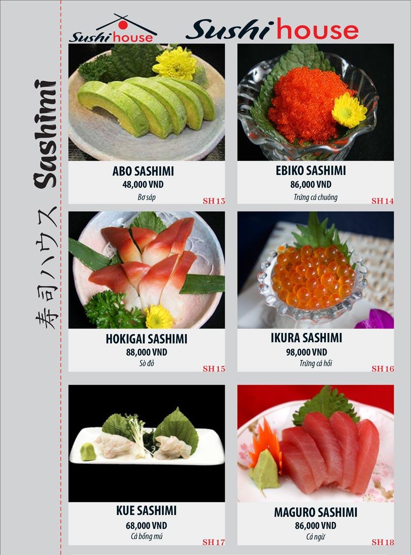 Menu Sushi House – Trương Quốc Dung 3