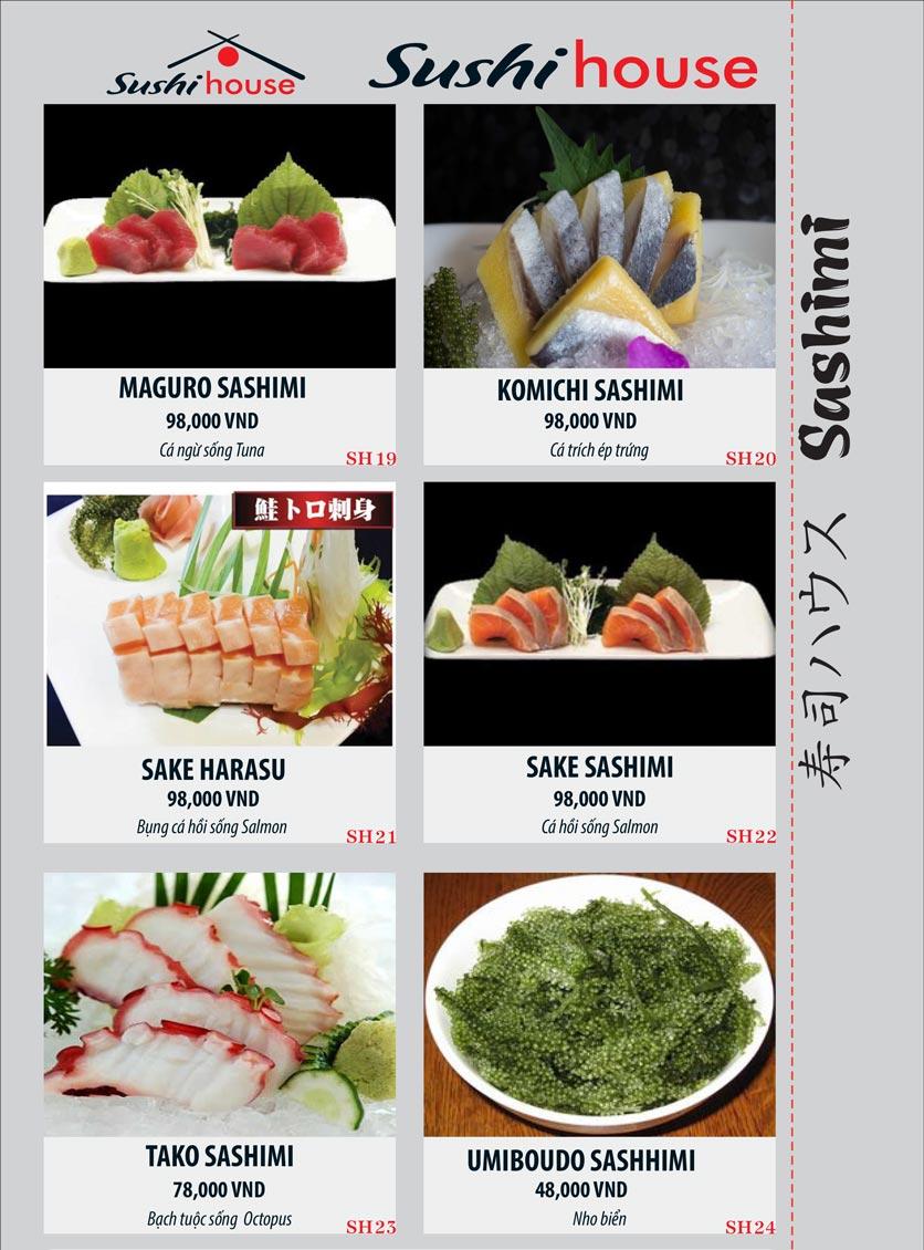 Menu Sushi House – Trương Quốc Dung 4
