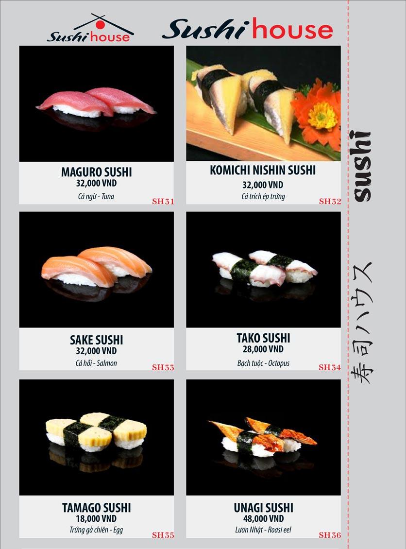 Menu Sushi House – Trương Quốc Dung 6