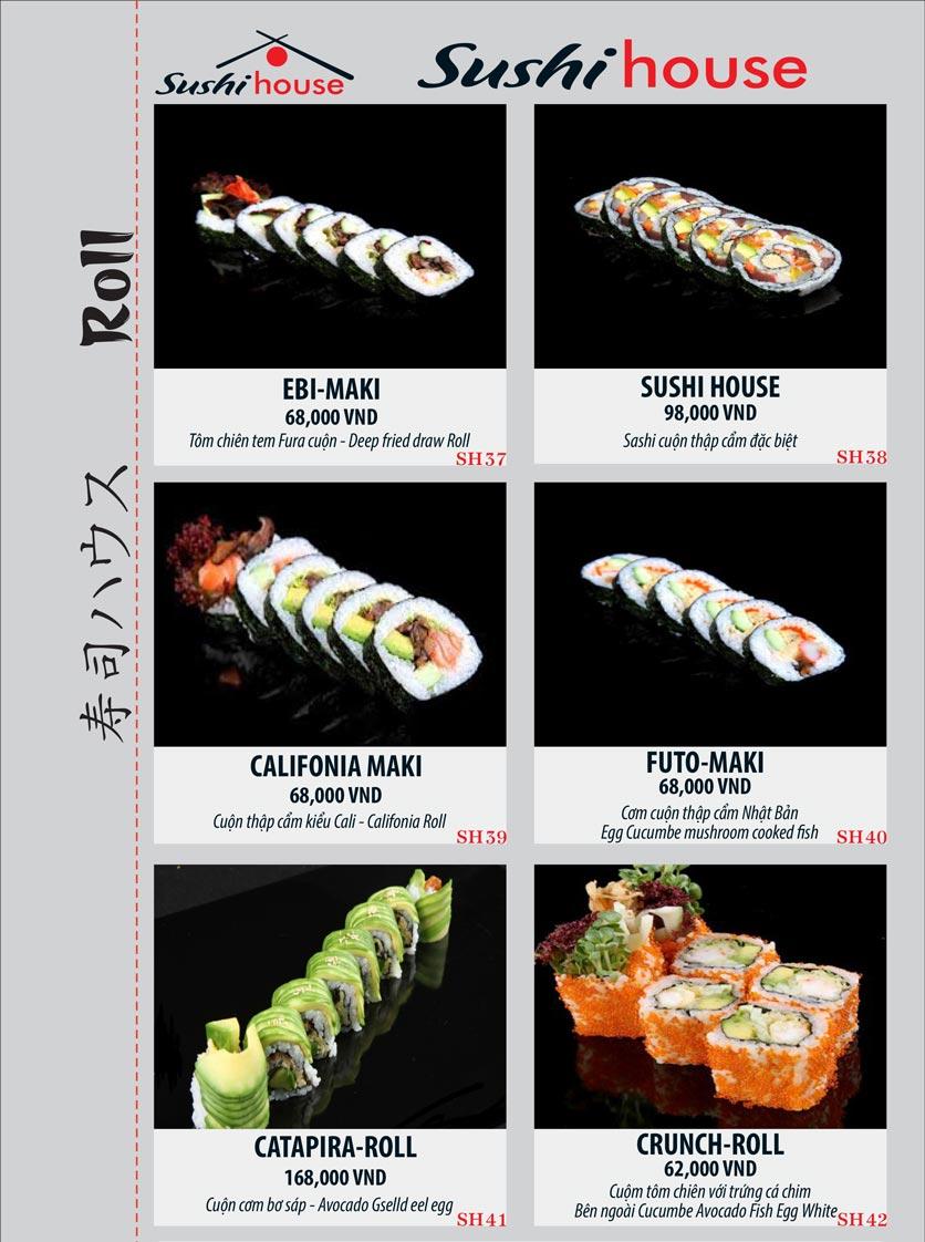 Menu Sushi House – Trương Quốc Dung 7