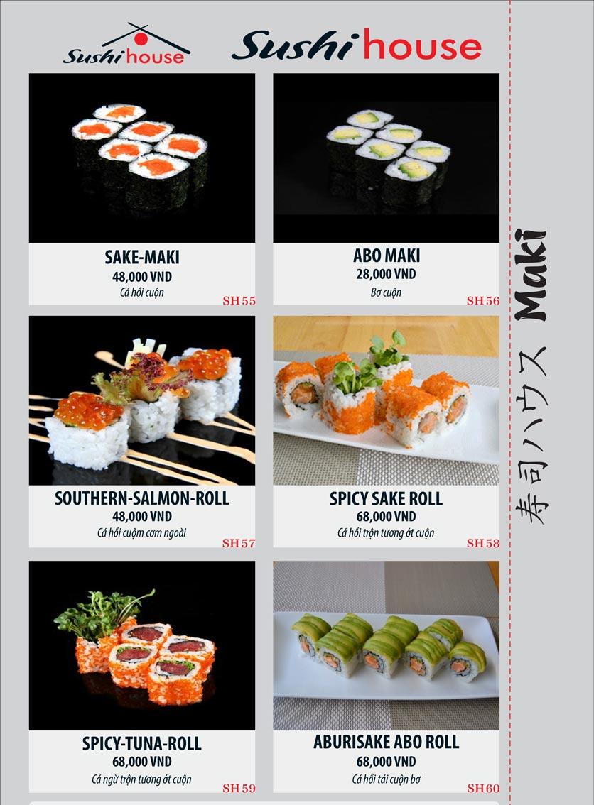 Menu Sushi House – Trương Quốc Dung 10