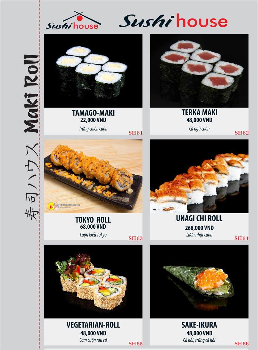 Menu Sushi House – Trương Quốc Dung 11
