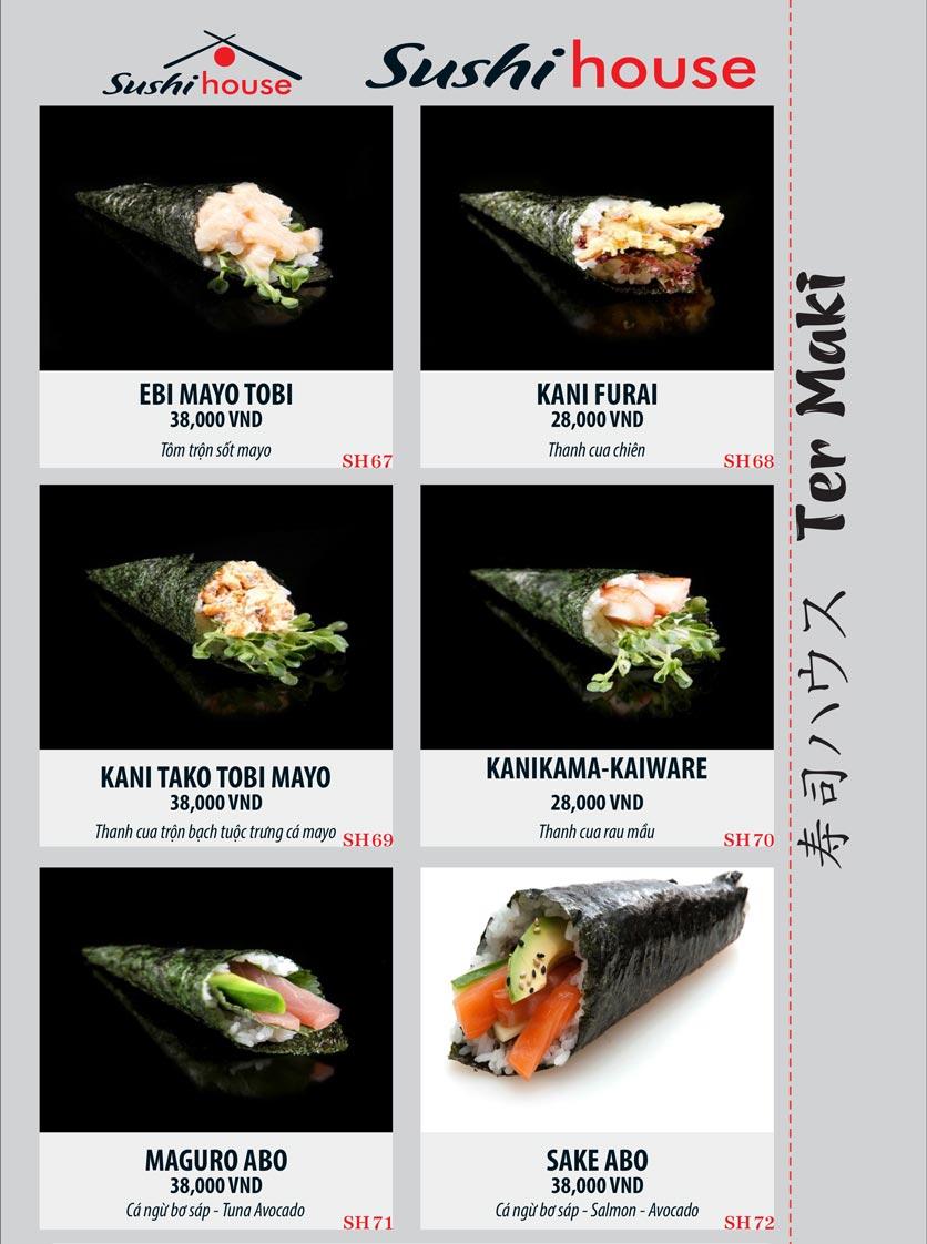 Menu Sushi House – Trương Quốc Dung 12