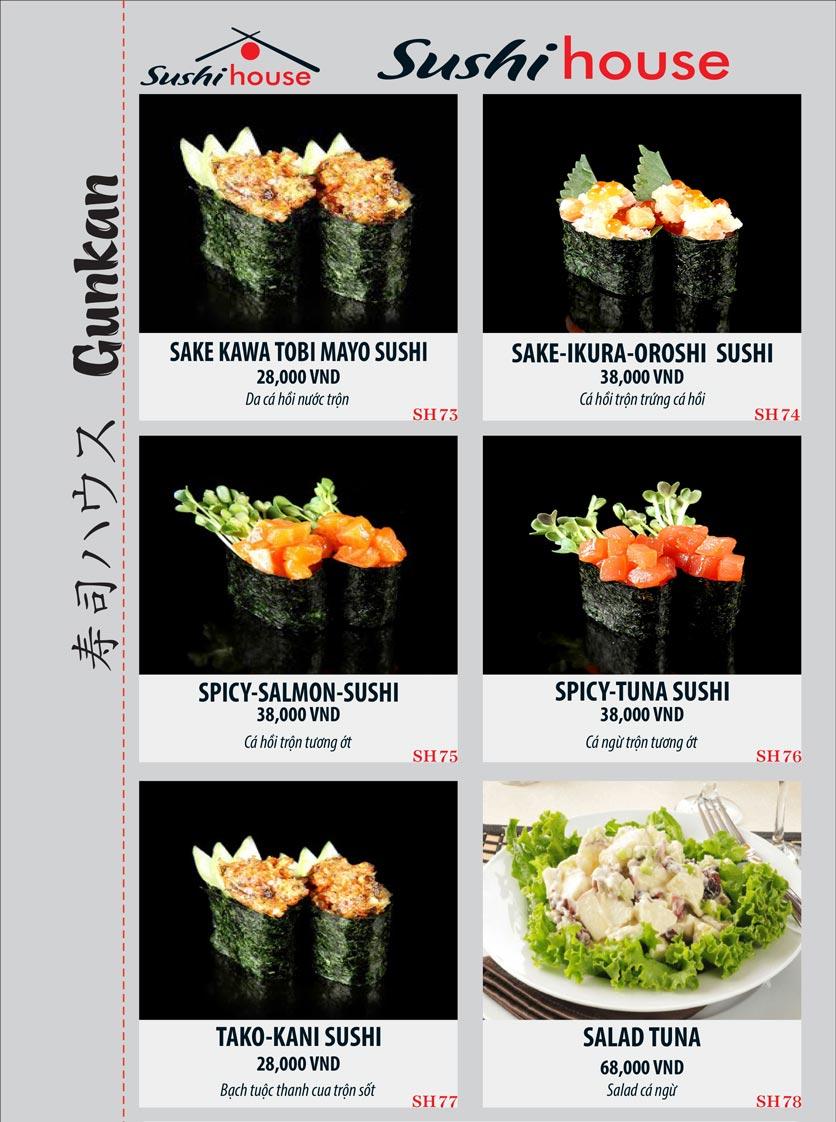 Menu Sushi House – Trương Quốc Dung 13