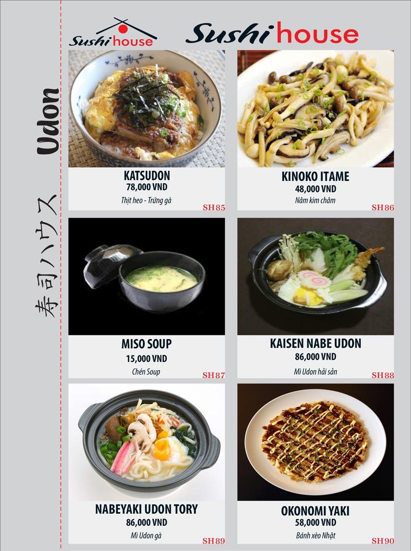 Menu Sushi House – Trương Quốc Dung 15