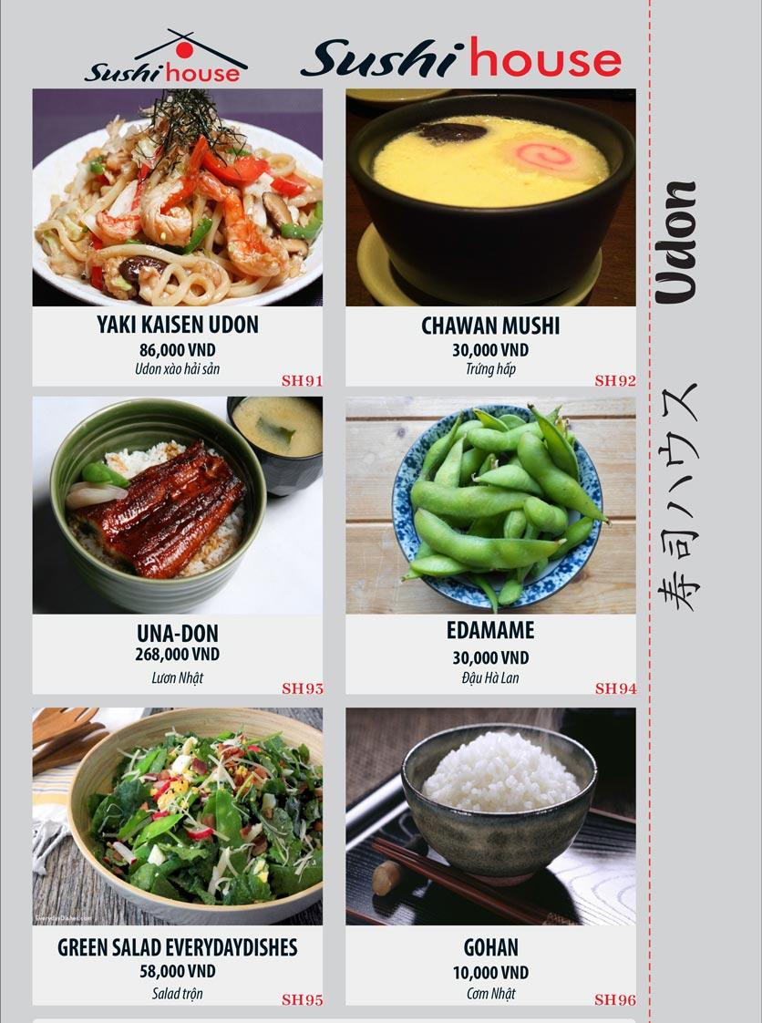 Menu Sushi House – Trương Quốc Dung 16