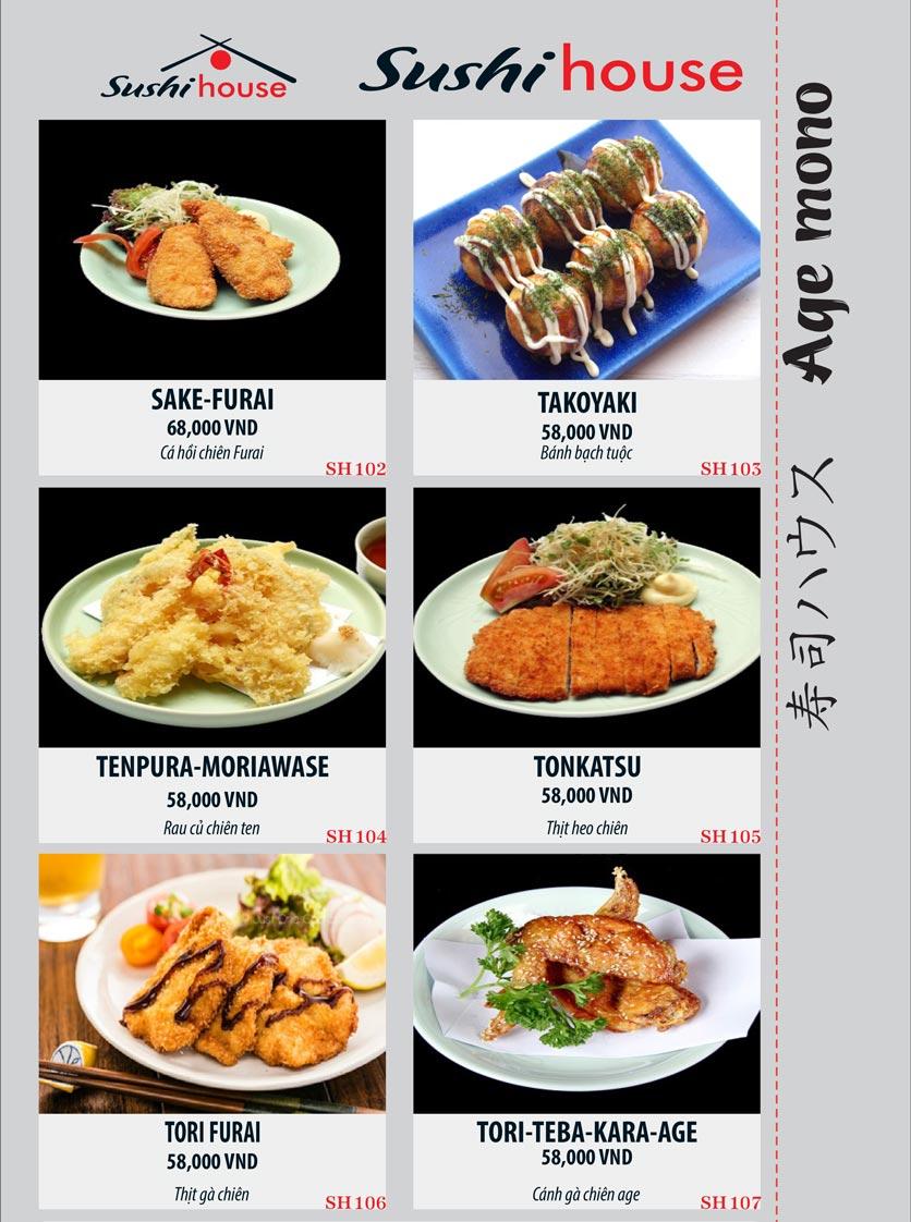 Menu Sushi House – Trương Quốc Dung 18