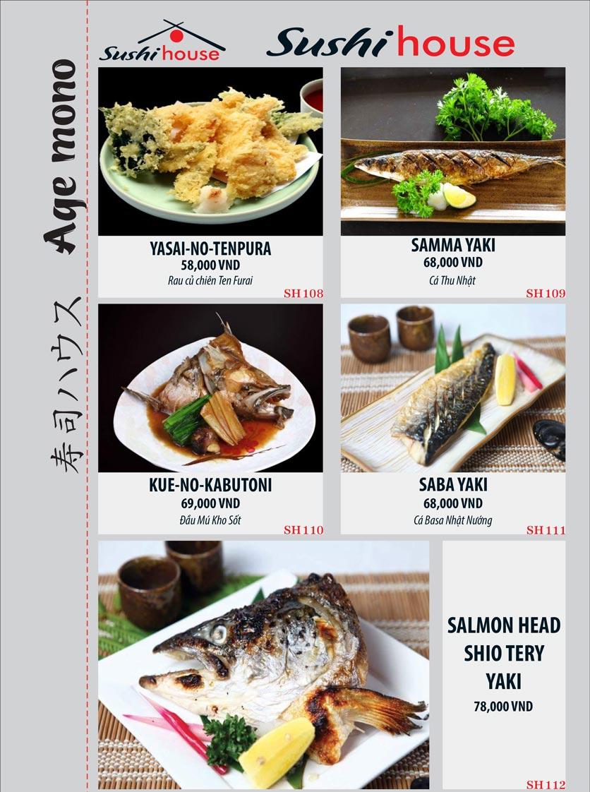 Menu Sushi House – Trương Quốc Dung 19