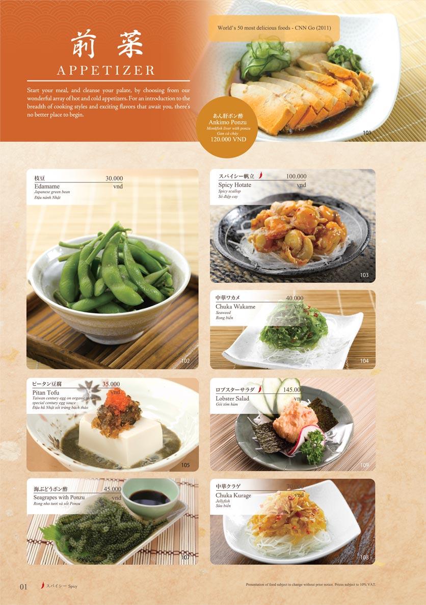 Menu Sushi Tei – Cao Thắng 12