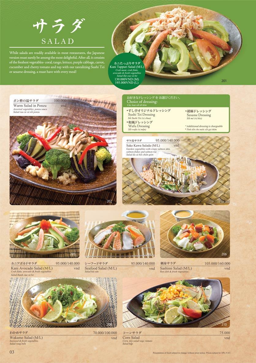 Menu Sushi Tei – Cao Thắng 14