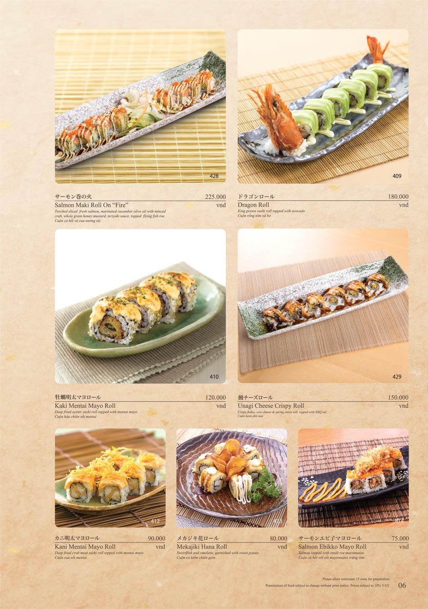 Menu Sushi Tei – Cao Thắng 17