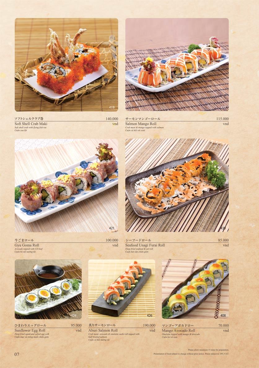 Menu Sushi Tei – Cao Thắng 18