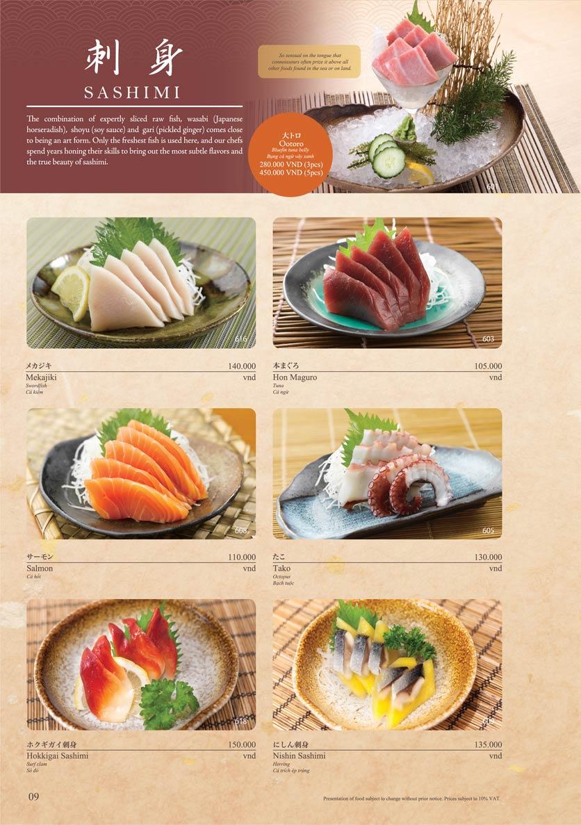Menu Sushi Tei – Cao Thắng 20