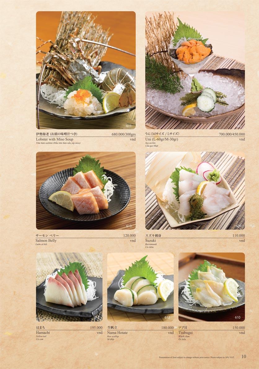 Menu Sushi Tei – Cao Thắng 21