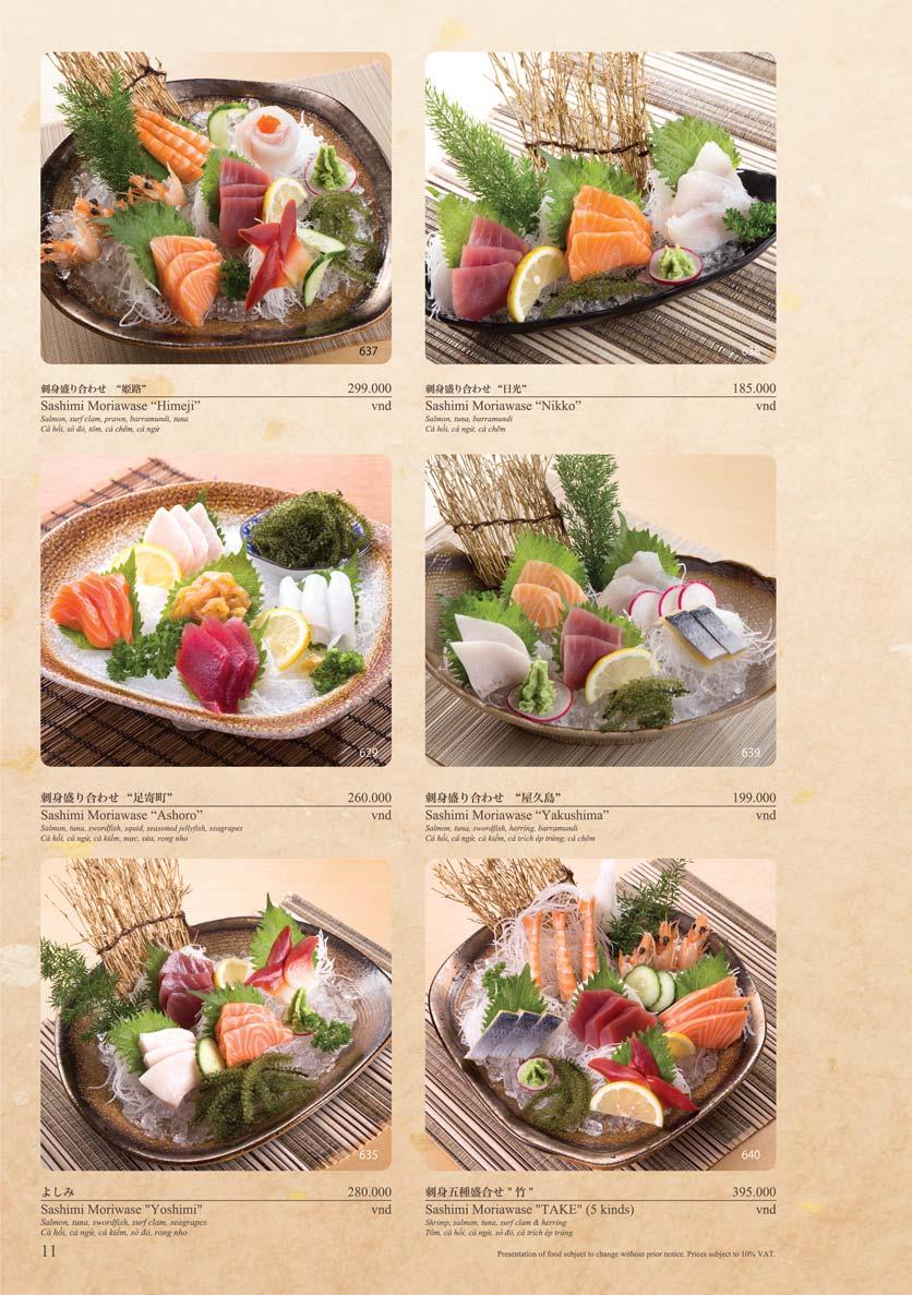Menu Sushi Tei – Cao Thắng 22