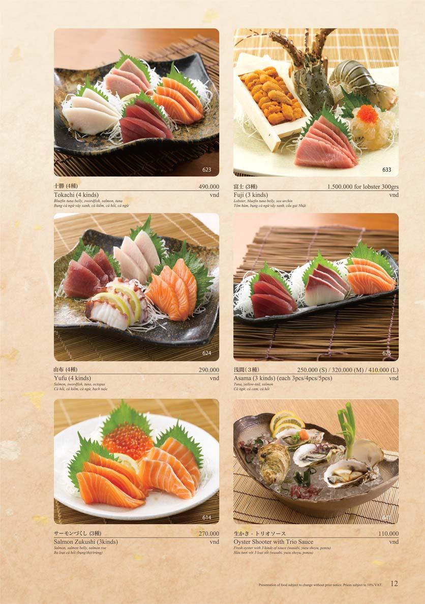 Menu Sushi Tei – Cao Thắng 23