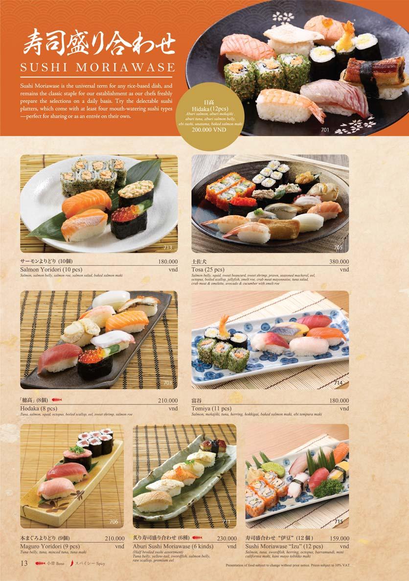 Menu Sushi Tei – Cao Thắng 24