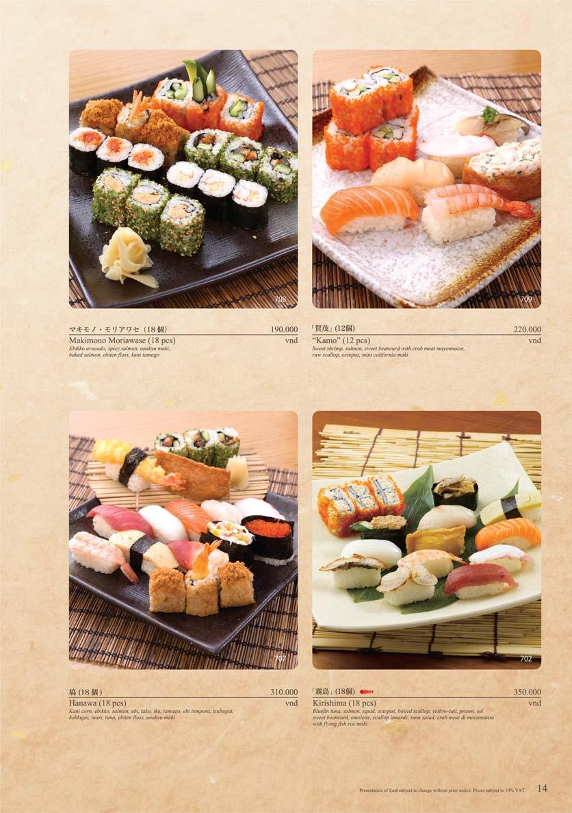Menu Sushi Tei – Cao Thắng 25