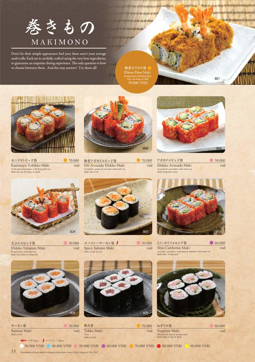 Menu Sushi Tei – Cao Thắng 26