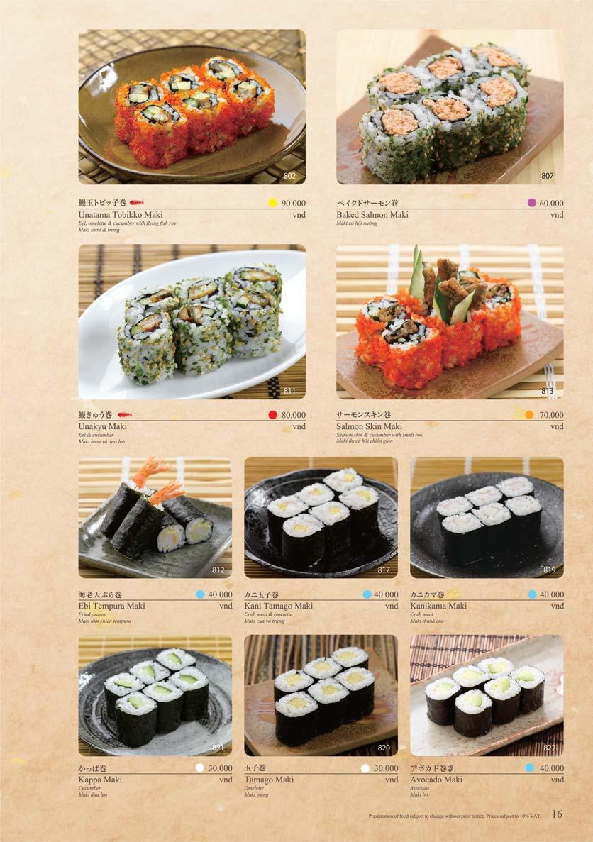 Menu Sushi Tei – Cao Thắng 27