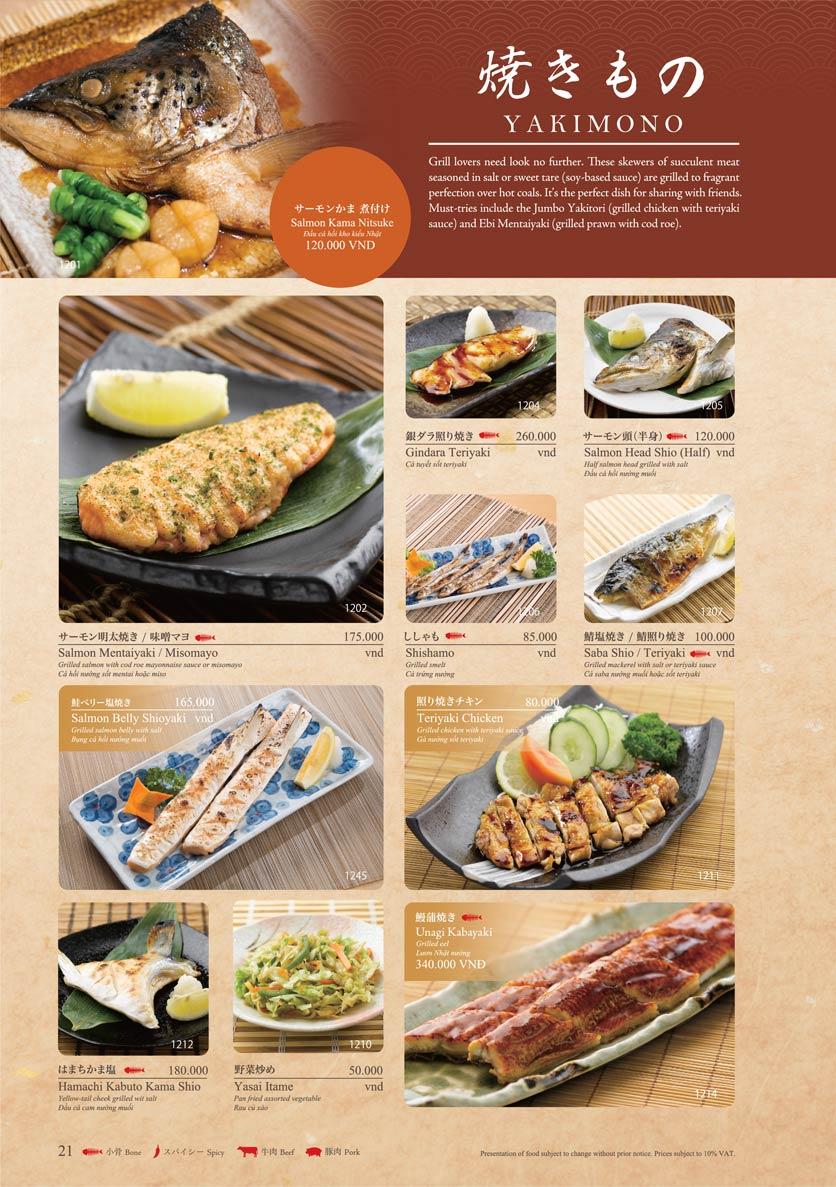 Menu Sushi Tei – Cao Thắng 32